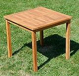 ASS Teak Holztisch Gartentisch Garten Tisch 80x80cm Gartenmöbel Holz sehr robust - 3
