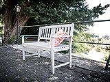 greemotion Holz Gartenbank Maui in Grau-2 Holzbank mit Rückenlehne-Garten Friesenbank wetterfest-Bank zum draußen Sitzen aus FSC Akazienholz, 11,5 x 6 x 1,4 cm - 6