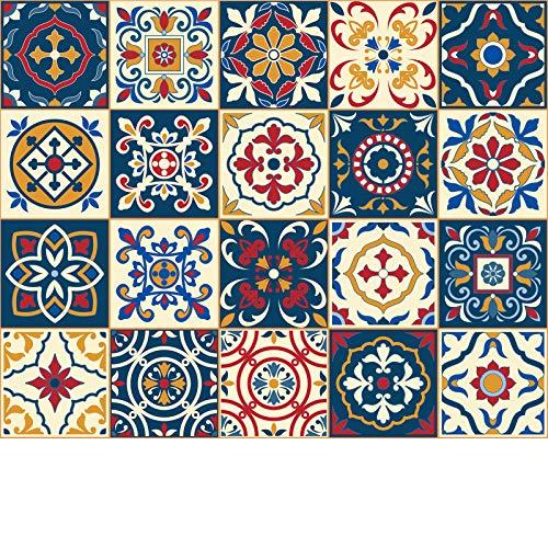 Leyu Decorative Tile Stickers 20 Pcs 6x6 inches. Peel & Stick Adhesive...