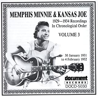 Album cover for Memphis Minnie & Kansa Joe recordings from the early 1930s