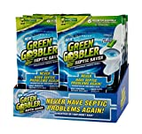 Green Gobbler Septic Saver Bacteria Enzyme Pacs - 6 Month Septic Tank Supply (Free Reminder APP) - 8 Pack Case