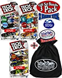 Tech Deck 96mm Fingerboards Ultra DLX 4 Packs...Featuring Santa Cruz/Creature, Real/Krooked & Girl/Chocolate Gift Set Bundle with Bonus Matty's Toy Stop Storage Bag - 3 Pack (12 Boards Total)