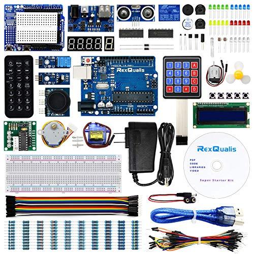 REXQualis Advanced Starter Kit per progetti per Principianti con Kit di apprendimento Tutorial in Italiano Compatibile con i progetti IDE di Arduino