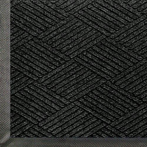WaterHog Eco Premier   Commercial-Grade Entrance Mat with Diamond Pattern & Rubber Border   Indoor/Outdoor, Quick-Drying, Stain Resistant Door Mat (Black Smoke, 3x5)