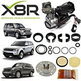 X8R HITACHI AIR SUSPENSION COMPRESSOR PISTON SEAL & FILTER DRYER REPAIR REBUILD KIT COMPATIBLE WITH LAND ROVER LR3 DISCOVERY 3 2005-2009 PART # X8R44