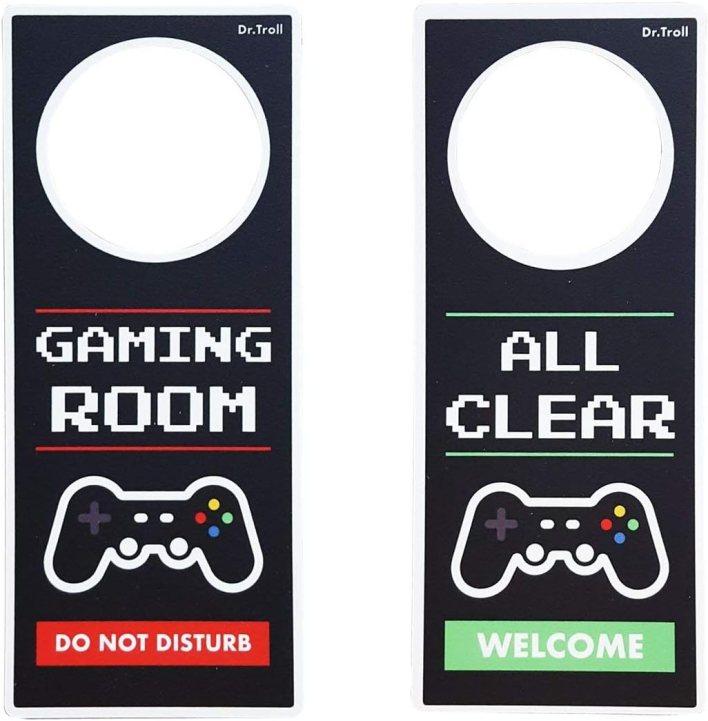 Framan Colgador para Puertas o Poming de Do Not Disturb Modelo Gaming Room