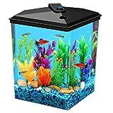 Koller Products AquaView 2.5 gallon Fish Tank - Power Filter - LED Lighting (AP25000FFP)
