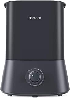 Homech Cool Mist Humidifier, 26dB Quiet Ultrasonic Humidifiers for Bedroom, 4L Air..