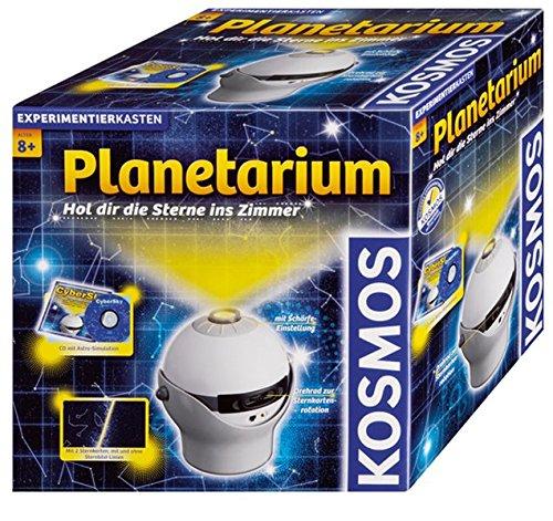 KOSMOS 676810 Planetarium, Hol dir die Sterne ins Zimmer, Projektor mit 2 auswechselbaren Sternkarten, spannendes Simulationsprogramm zu Sternen, Galaxien, Planeten, Astronomie für Zuhause ab 8 Jahre
