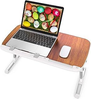 Laptop Table for Bed, TaoTronics Foldable Lap Desks, Bed Desk Height Adjustable, Portable..