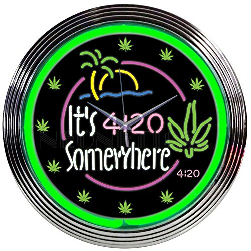 Neonetics It's 4:20 Somewhere Neon Clock