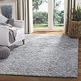 Safavieh Abstract Collection ABT763M Handmade Premium Wool Area Rug, 8' x 10', Blue