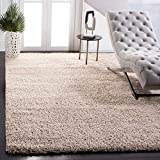 SAFAVIEH California Premium Shag Collection SG151 Non-Shedding Living Room Bedroom Dining Room Entryway Plush 2-inch Thick Area Rug, 8' x 10', Beige