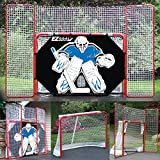 2' Steel Folding Hockey Goal with Backstop, Shooter Tutor & Targets