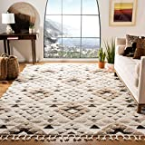 SAFAVIEH Moroccan Tassel Shag Collection MTS688A Boho Non-Shedding Living Room Bedroom Dining Room Entryway Plush 2-inch Thick Area Rug, 8' x 10', Ivory / Brown