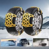 UPEOR Car Snow Tire Chains Emergency Car Adjustable Anti Slip Tire Chain for SUV/Truck/Cars Snow Tire Cable Car Chains 165-275mm/6.4-10.9'' (Yellow) …