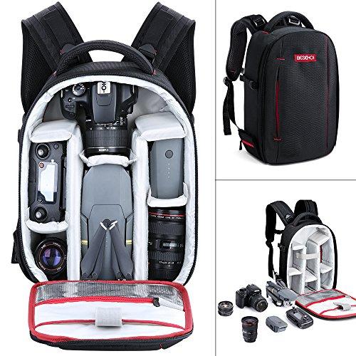 Zaino per Fotocamera Professionale Beschoi Zaino Macchina Fotografica Borsa Foto Impermeabile Porta Reflex Laptop Canon Nikon Treppiede Accessori, Taglia S