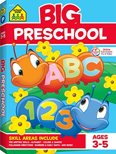 School Zone - Big Preschool Workbook - Ages 3 to 5, Colors,...