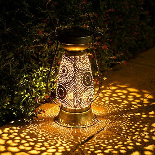 Solarlaterne für außen, Görvitor LED Solar Laterne Hängende für Draußen, Dekorative Solarlampe Garten Laterne IP44 Wasserdicht