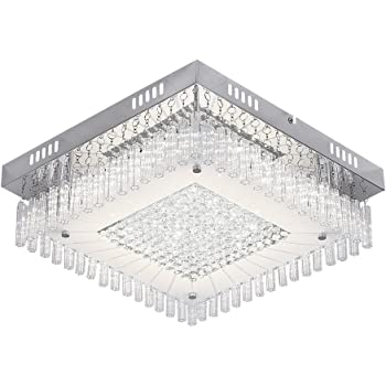 Ceiling Light Fittings With Led Bulbs Modern Crystal Living Room Lights Ceiling For Bedroom Dining Room Hallway 2160lm 4000k Amazon Co Uk Lighting
