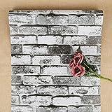 Blanc Gris Noir Papier Peint Effet Brique Papier Peint Rustique...