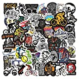 50 Pcs Mountain Bike Stickers| Mountain Bike Waterproof Vinyl Stickers for Bike Water Bottles Laptop Bicycle Refrigerator Cup Luggage Computer Mobile Phone Skateboard Decals