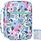 G-LEAF Bible Cover Case/Book Cover Floral Pattern With Handle Fits for Standard Size Bible,7.5x10x2.5 In