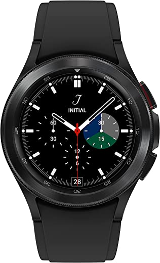 SAMSUNG Galaxy Watch 4 Classic 42mm Smartwatch with ECG Monitor Tracker for Health Fitness Running Sleep Cycles GPS Fall Detection Bluetooth US Version, Black