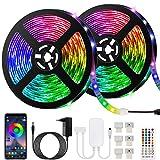 Ruban LED Bleutooth,10M Bande LED 300 LEDs 5050 RGB IP65,Contrôlé par APP...