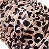ZAFUL Women's Strapless Ribbed Tie Back Ruffle Cutout Bandeau Bikini Set Swimsuit (T-Leopard, M) #1