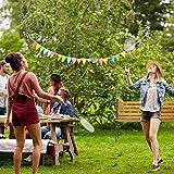 Relaxdays Gartenbank, 2-Sitzer, Holzstreben, Gusseisen, Outdoor, Balkon & Terrasse, Bank HBT 73,5 x 126 x 52,5 cm, natur - 5