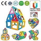 Jasonwell 42 Pièces Blocs de Construction Magnétique Jeux Construction Aimanté Jeu Magnétique Jouet de Construction Educatif et Créatif Cadeau pour Enfants Fille Garçon