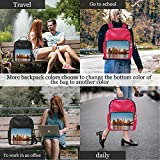 New York City Panorama Colorful at The Early Morning,Leather Small Bag 15.6 inch Waterproof 13IN