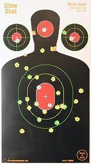 "18"" x 10"" Silhouette Splatter Target – Multi-Color -GlowShot Targets.."