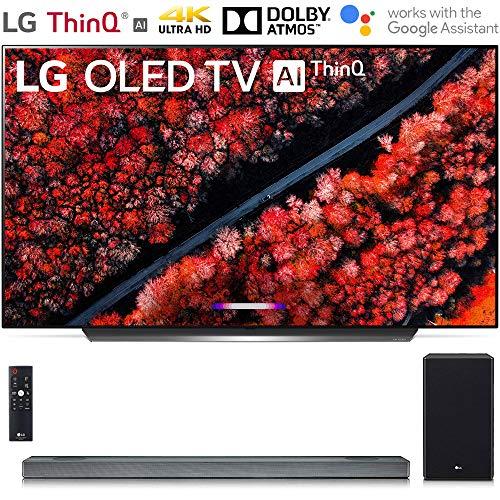 LG OLED65C9PUA 65' C9 Smart OLED TV w/AI ThinQ (2019) with SL9YG 4.1.2 Channel High Res Audio Sound Bar Bundle