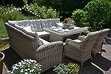 bomey Rattan Lounge Set Gartenmöbel Set Manhattan C-2 4-Teilig Gartensofa Grau