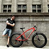 Fat Tire Mountain Bike, 26' 21-Speed Mountain Bike for Exercise Fitness, Dual Suspension MTB, Great Gift for Valentine's Day