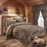 King Size 7 PC Natural!! CAMO Bedding Set Comforter Sheet Pillowcase Set Brown Camouflage