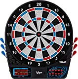 Viper 777 Electronic Dartboard, Easy To Use Button Interface, Red White And Blue Segments, Double Height Cricket Scoreboard, Quick Cricket Key Gets You Into The Game Faster, 43 Games And 230 Options