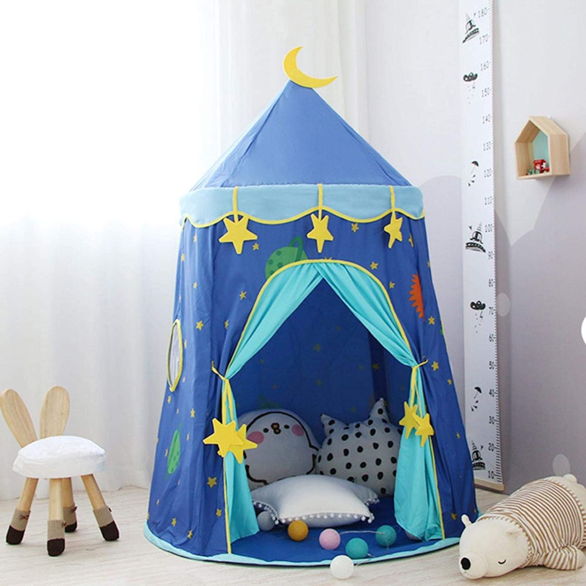 Teepee Tent For Kids Play Tent Game House Kids Room Decor Boys Girls Castle For Indoor Outdoor Picnic Outing Amazon Ca Toys Games
