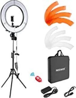 """Neewer Ring Light Kit:18""""/48cm Outer 55W 5500K Dimmable LED Ring Light, Light Stand, Carrying Bag for Camera,Smartphone,Yo..."""