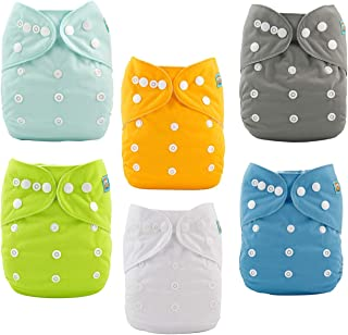 ALVABABY Baby Cloth Diapers One Size Adjustable Washable Reusable for Baby Girls and Boys..