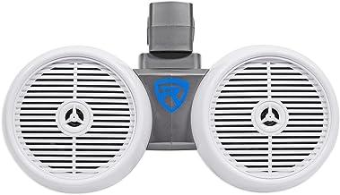 "Rockville DWB65W Dual 6.5"" White 600 Watt Marine Wakeboard Tower Speaker System"