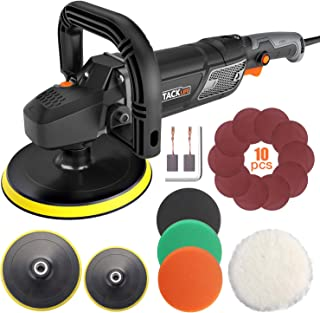 Polisher, TACKLIFE Buffer Polisher 7-Inch/6-Inch 12.5Amp, With 6 Variable Speeds, Digital..