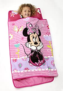 Disney Minnie Mouse Toddler Rolled Nap Mat, Sweet as Minnie, Minnie Mouse – Sweet as Minnie