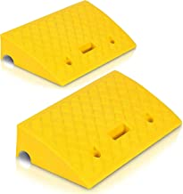 Portable Lightweight Plastic Curb Ramps – 2PC Heavy Duty Plastic Threshold Ramp Kit..