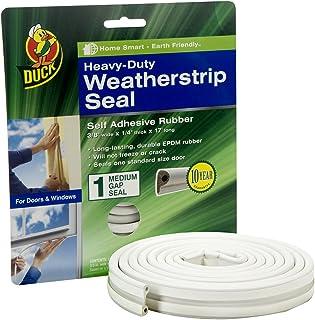 Duck Brand Heavy-Duty Self Adhesive Weatherstrip Seal for Medium Gap, White, 3/8-Inch x..