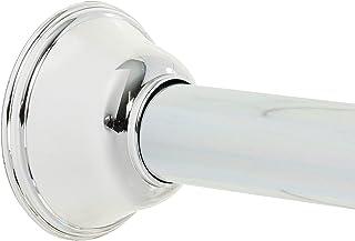 Zenna Home Rust-Resistant Adjustable Tension Decorative Shower Rod, Chrome