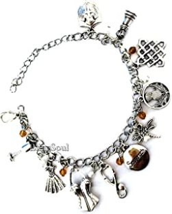 TV Movies Show Charm Bracelet - Christmas Merchandise Costume Horror Jewelry Gifts for Women