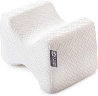 Knee Pillow for Side Sleepers – 100% Memory Foam Wedge Contour – Leg Pillows..